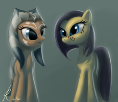 Pony Ahsoka and Barriss by Raikoh-illust
