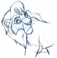 Adult Kovu -wip- by KaiserTiger