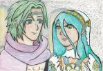Fire Emblem Fates: Kaze and Azura by SolAlli