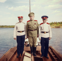Alexei with cadets Vasya and Eugene Makarov by KraljAleksandar
