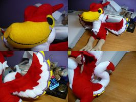 Crimson Loftwing Plushie by PlushRayseTiger
