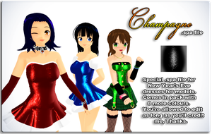 MMD New Year's Eve spa DL by Beikonated