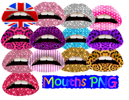 Mouths PNG by JEricaM