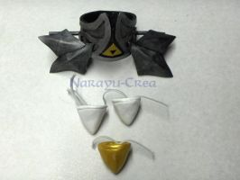 Zelda Twilight Princess hair ornaments by Narayu