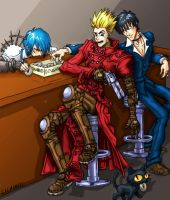 Vash loses his Doughnuts FINAL by salmonaxe