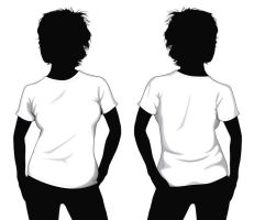 girl t-shirt template by muraviedo