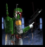 Boba Fett Commission - Colours by PhaseChan