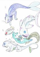Egg Hatchlings from adoptables by IcyWaterWolf