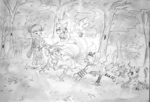 Running in the woods.:Contest Entry:. by TearOfARose