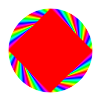 red square in circle by 10binary