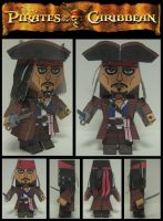 Jack Sparrow Paper Model by Ditch-scrawls