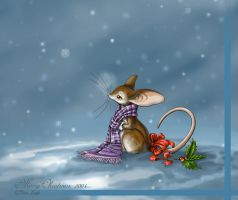 Merry Mousie Christmas by jaxxblackfox