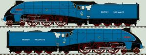 LNER A4 liveries - E22 'Mallard' by 2509-Silverlink