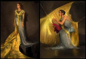 In Class Costume Paintings by Rossipoo