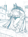 Batman Linework by davidstonecipher