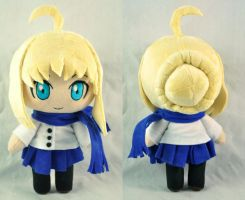Chibi Saber -winter outfit- by Lexiipantz