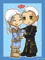 Chibi Ancano and Amathir by LMColver