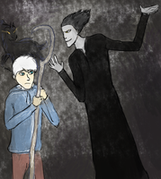 Jack Frost encountering Pitch Black by HarleyQuinn22