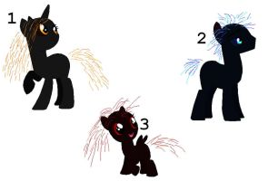 Picture Adoptables: Spark Ponies by Literate-Adopts