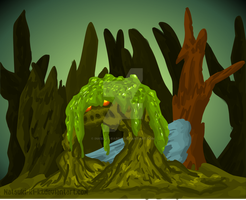 Moss Beast by Inkblot-Rabbit