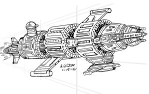 Cylindrical Ship concept by archaznable30