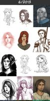 Daily doodles 2013-6 by Lysandr-a