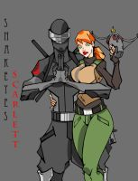 SNAKEYES AND SCARLETT by kskillz
