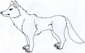 Free wolf lineart by MoonlightLyanti