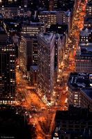 Flat Iron Building at night by IgorRybaltchenko