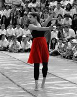 Dancer In Red by TaliNatPhotography