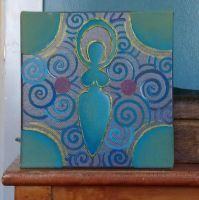Blue-Green Goddess by Spiralpathdesigns