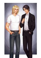 Commission: Adam and Hyeong by alexielart