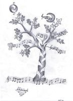 the tree where music starts by Wtex