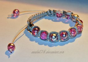 Makrama .pink and silver. by anabell18