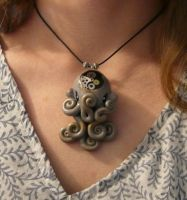 Octopus Necklace by FamiliarOddlings