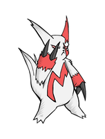 Zangoose - Spade - Colored by Exate