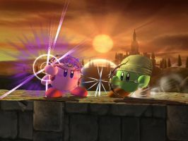 GanonKirby vs. LinkKirby by shinco