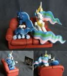 Luna and Celestia: Two Best Sisters play Portal 2 by PrototypeSpaceMonkey