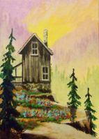 ACEO Livin On The Edge #3 by annieoakley64