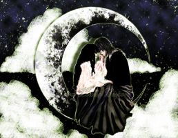 Lovers in the Night Sky by Widelia