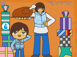 Happy Thanksgiving Day 2014! (with chibi Henry) by Rage-DSSViper-Sigma