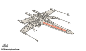X-Wing Starfighter - transparent background by AkiDIDmorning