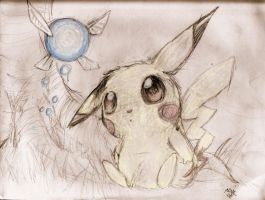 Navi and Pikachu by FearsomeRoaringShark