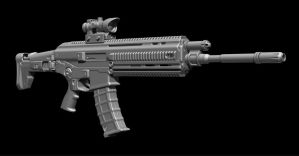 Zbrush Weapon Tutorial - ACR Rifle by Chofni1996