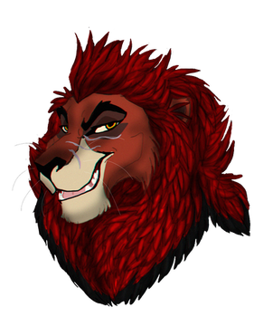 lion head by coolrat