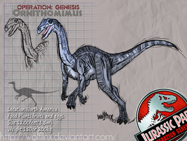 Ornithomimus by WolfLinx