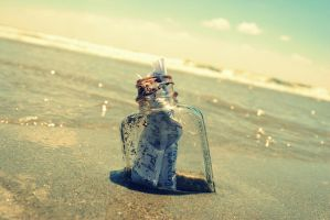 Message in a bottle by Neonnote