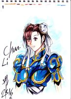 Chun Li colored by Penzoom