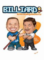caricature billiard by LOLONGX