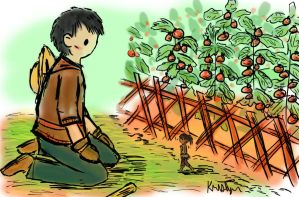In the Tomato Garden Colored by Friendlyfoxpal